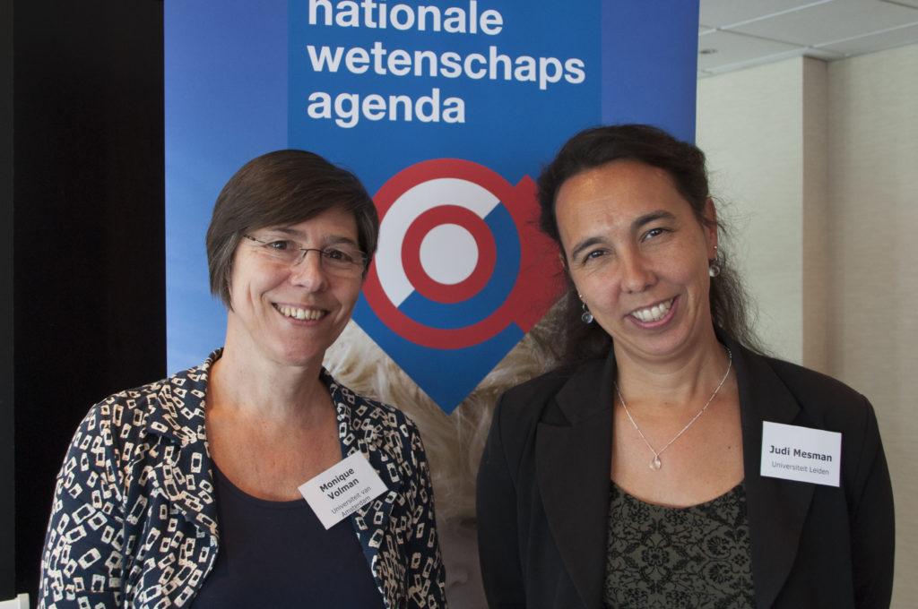 Judi Mesman (UL) en Monique Volman (UvA)